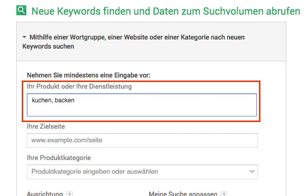 google keywordplaner anleitung
