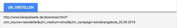 Tracking-URL Sonderangebote Newsletter